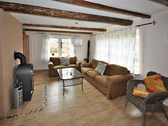 Ferienhaus nordseek ste wohn und esszimmer im landhaus for Eingerichtete wohnzimmer modern